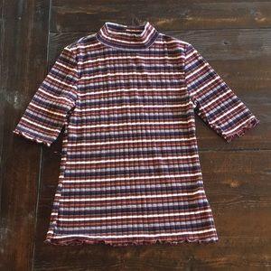 Striped shirt sleeve top